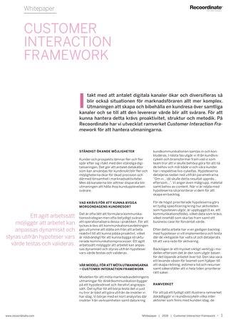 White paper – Customer Interaction Framework