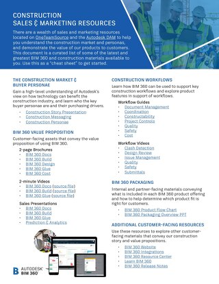 [PDF] BIM 360 Product Resource Guide