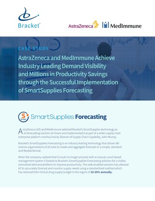 SmartSupplies Forecasting Case Study - AstraZeneca and MedImmune