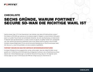 Sechs Gründe, warum Fortinet Secure SD-WAN die richtige Wahl ist