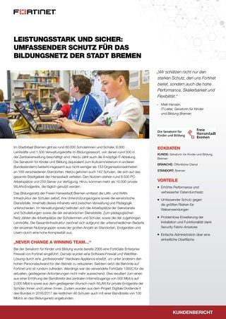 Leistungsstark und sicher: Umfassender Schutz für das Bildungsnetz der Stadt Bremen