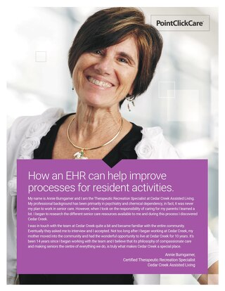 Customer Story: How an EHR can help improve  processes for resident activities