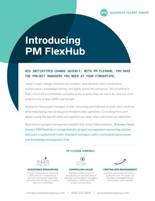 Business Talent Group Key Strengths: PM FlexHub