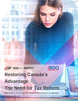 [Report] Restoring Canada's advantage: the need for tax reform