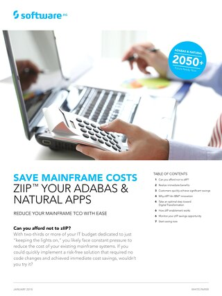 Save when you zIIP™ Adabas & Natural apps