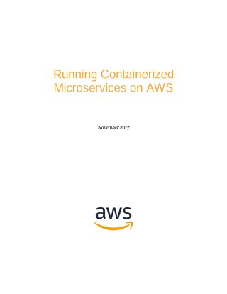 Running Containerized Microservices on AWS