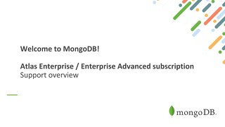 Enterprise Advanced - in depth support overview