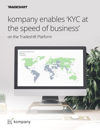 Kompany enables 'KYC at the speed of business' on the Tradeshift platform