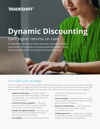 Dynamic Discounting datasheet: earn higher returns on cash