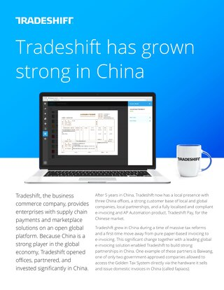 Tradeshift has grown strong in China