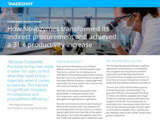 How Novozymes Transformed its Indirect Procurement and Achieved a 31% Productivity Increase