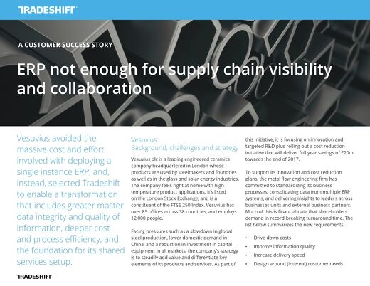 ERP not enough for supply chain visibility and collaboration