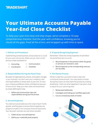 Accounts payable fiscal year-end close: a 10-step checklist