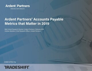 Ardent Partners: accounts payable metrics that matter in 2019