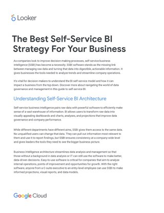 The Best Self-Service BI Strategy For Your Business