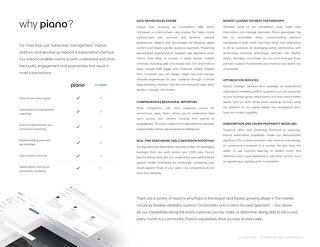 Why Piano: Comparison Chart