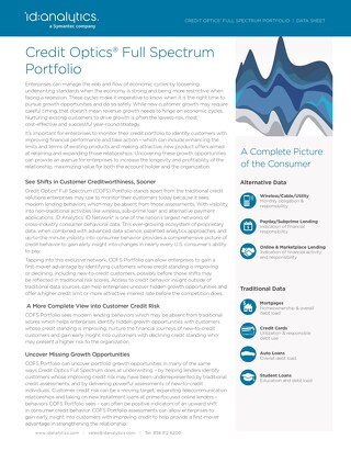 Credit Optics® Full Spectrum Portfolio