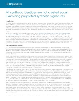 All Synthetic Identities Are Not Created Equal: Examining Purported Synthetic Signatures