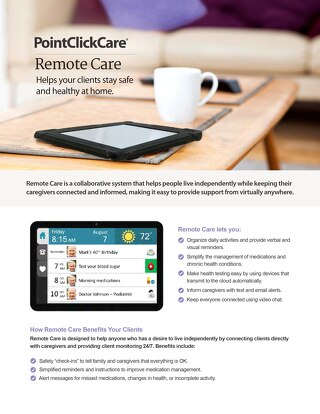 PointClickCare Remote Care Solution Sheet