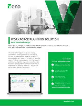 Vena Solution Package: Workforce Planning