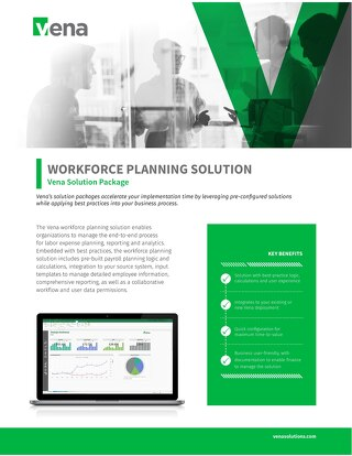 Vena Solution Package: Workforce Planning