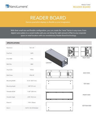 NanoLumens-Reader Board