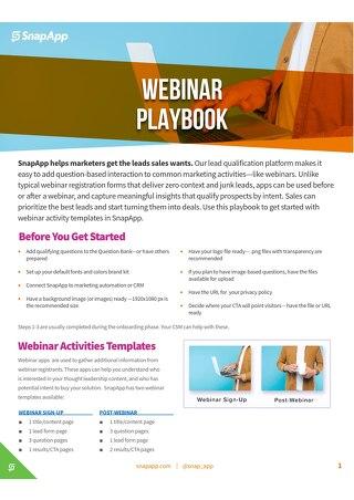 Playbook: Webinars