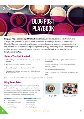 Playbook: Blogs