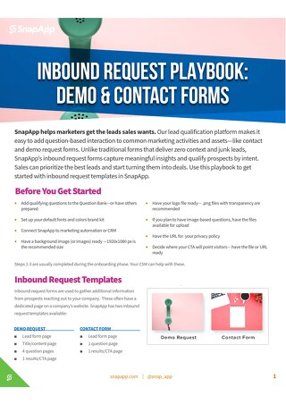 Playbook: Inbound and Demo Requests