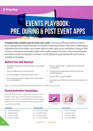 Playbook: Events