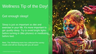 Wellness Tip of the Day: Sleep
