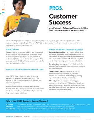 PROS Customer Success: Delivering Measurable Value