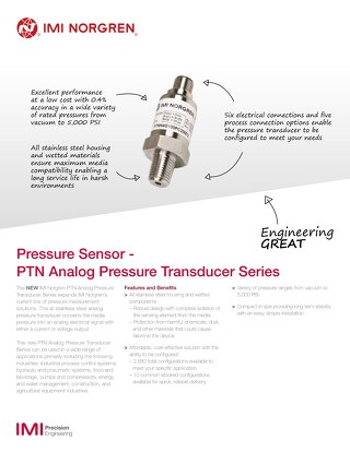 z8993SS - Pressure Transducer