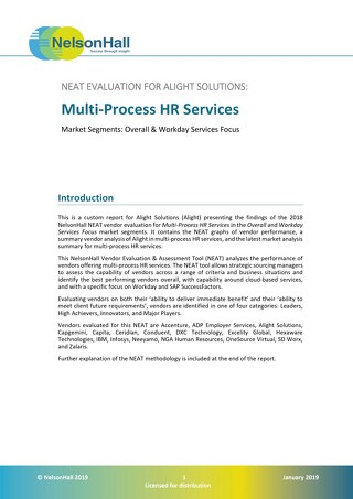 NelsonHall NEAT Evaluation: Multi-Process HR Services
