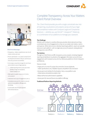 Complete Transparency Across Your Matters Client Portal Overview