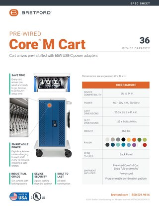 Pre-Wired Core M Cart Spec Sheet