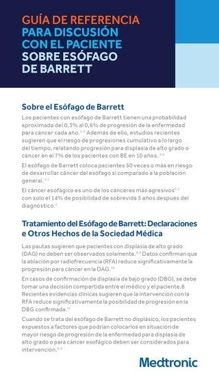 Guía de Referencia para discusión con el paciente - BARRX