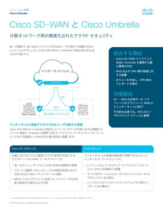 Cisco SD-WAN と Cisco Umbrella