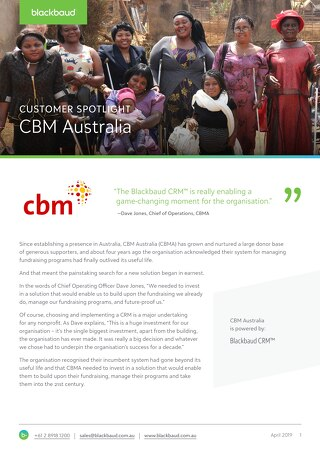 Customer Spotlight: CBM Australia