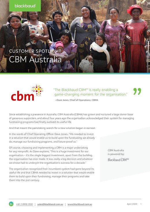 Customer Spotlight: CBM Australia