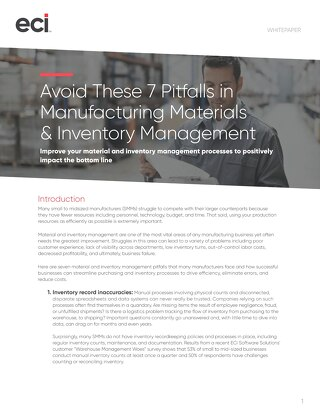Avoid These 7 Pitfalls in Manufacturing Materials and Inventory Management