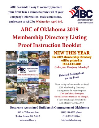 2019 ABC Directory Instructions
