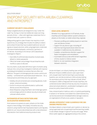 HPE Aruba Clearpass Introspect Endpoint Security