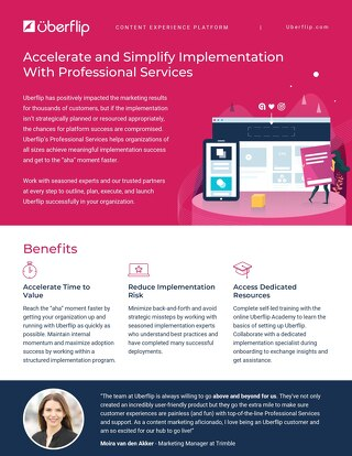 Uberflip Professional Services One Pager Standard/Assisted/Advanced