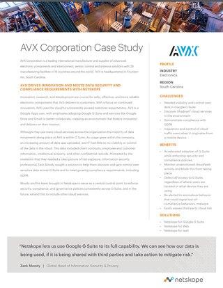 AVX Corporation Case Study