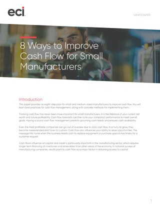 8 Ways to Improve Cash Flow for Small Manufacturing