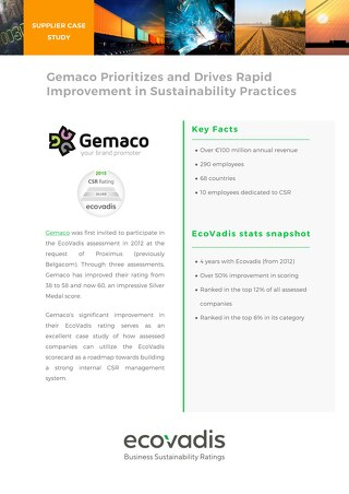 Gemaco Prioritizes and Drives Rapid Improvement in Sustainability Practices