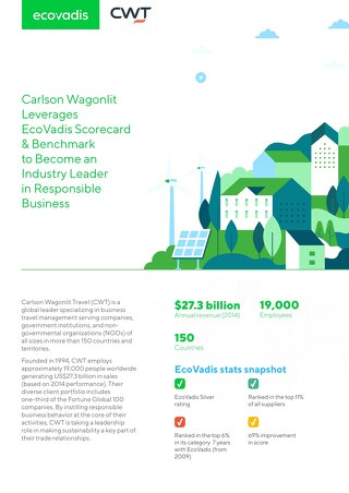 Carlson Wagonlit Leverages EcoVadis Scorecard For Leadership in Responsible Business