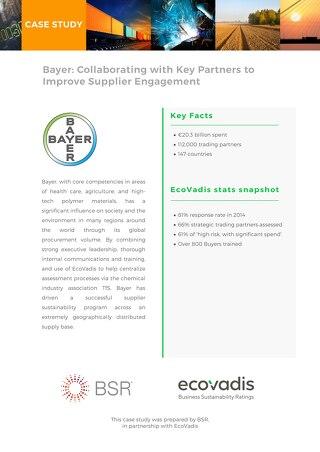 Bayer Sustainable Procurement Case Study