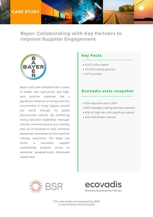 Bayer Sustainable Procurement Case Study